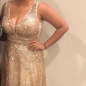 Gold Prom/ Gala Dress